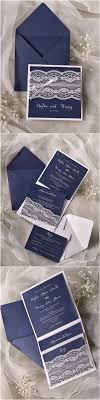 Navy Blue Lace Wedding Invitations 4lovepolkadots Wedding