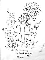 Small Picture Picket fence and birdhouse Coloring Pages Pinterest