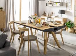 vox oak dining table with built in trivet unique dining tables