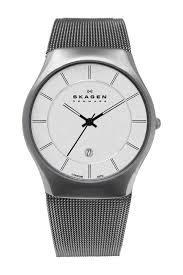 skagen men s titanium mesh watch nordstrom rack image of skagen men s titanium mesh watch