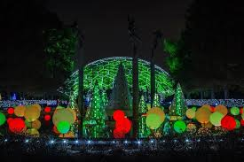 to enlarge the garden is illuminated and ready for visitors courtesy of missouri botanical garden