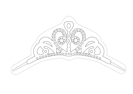 princess tiara template crown amp tiara rhinestone templates sticky flock templates