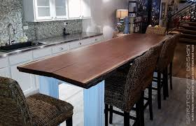 raw edge dining table. Large Live Edge Dining Table In Solid Black Walnut On Custom Base And Legs, Displayed Raw