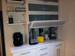 Kitchen Tambour Door Kit Appliance Garage In This Kitchen An Appliance Garage In The Wall