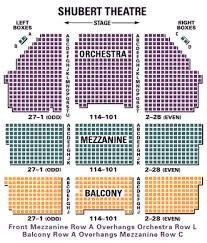 Seating Chart Axelrod Theater Shubert Theatre Theatregold Database