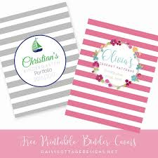 Free Printable Binder Covers Printable Binder Covers From Daisy Cottage Designs