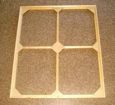 frame with cross brace and corner braces