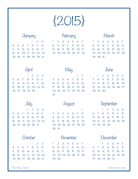 2015 calendar template 2015 year calendar printable andwerve com