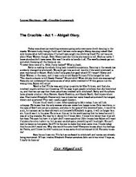 the crucible act abigail diary gcse english marked page 1 zoom in