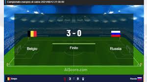 Belgio vs Russia - Danimarca vs Finlandia - Euro 2020 LIVE ITA - diretta  live Aiscore - YouTube