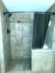shower curtain for walk in curtains or glass door tub vs doors sho glass door vs shower curtain