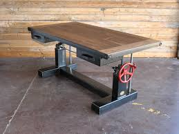 industrial furniture table. Interesting Table Crank Desk Throughout Industrial Furniture Table I