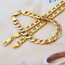 men s jewellery real 9k gold filled men s bracelet necklace 21 5 chain set birthday gift