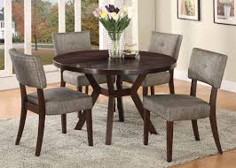 casual espresso round dining table set