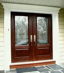 fiberglass double front doors with glass door ideas home