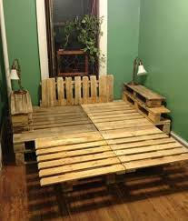 pallet crate furniture. Wooden Pallet / Crate Bed Furniture A