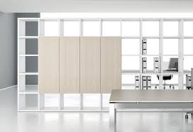 office storage design. Freestanding Office Shelving Cubic Storage In White With Desk Design