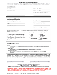 Fillable Online Tammany Parish Hospital Fax Email Print
