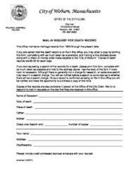 Requesting A Death Certificate Death Certificate Request Form City Of Woburn
