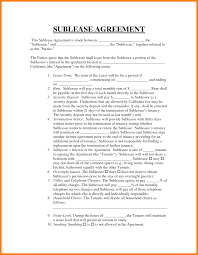 Sublease Agreement Agreement New Sublease Agreement Sublease Agreement 20