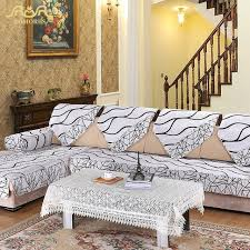ROMORUS 1 pc Europe Striped Quilted Sofa Cover Armrest Slipcover ... & ROMORUS 1 pc Europe Striped Quilted Sofa Cover Armrest Slipcover White  Fabric Couch Covers Sectional Seat Adamdwight.com