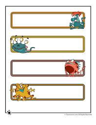 Name Templates Printable Printable Name Cards And Bulletin Board Decorations Woo