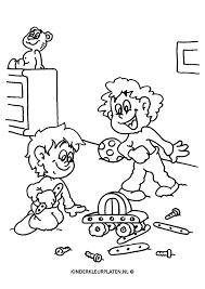 Kleurplaat Speelgoed Bouwen Algemeen
