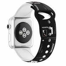 Dây Đeo Silicon In Họa Tiết Cho Đồng Hồ Thông Minh Apple Watch 44mm 40mm  38mm Và 42mm Iwatch SE 6 5 4 3 2 1 chính hãng 79,000đ