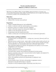 Medical Assistant Job Duties For Resume Best Of Office Assistant Description Medical Assistant Job Duties R RS