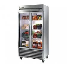 glass door reach in refrigerator 35 cu ft