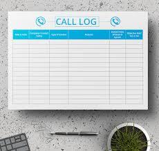 11 Free Log Samples Activity Call Work