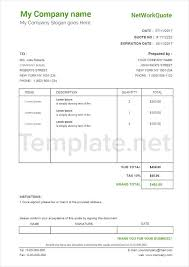 Sample Network Quotation. Business Quotation Sample Sample Quotation ...