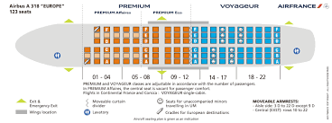 Air France Airlines Airbus A318 Aircraft Seating Chart