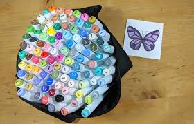 Caliart Markers 100 Color Chart How To Blend Markers Alcohol Lauras Paper Craft Ideas