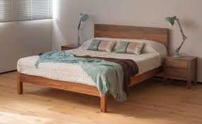 Solid Walnut Bedroom Furniture Malabar Wooden Bed The Medium Height Malabar Bed Has A Taller