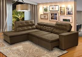 sofá 5 lugares de canto retrátil e reclinável chaise 2 80m sttilo marrom512 megl