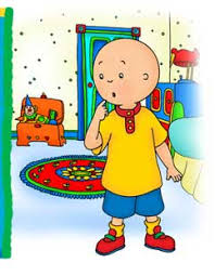 caillou thinking