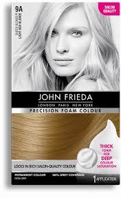 John Frieda Precision Foam Color Chart Ash Blonde Hair Dye 9a John Frieda