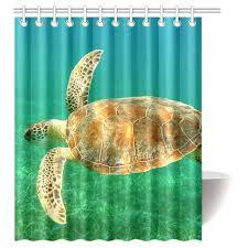 interestprint sea turtle waterproof polyester fabric 60 w x 72 h shower curtain