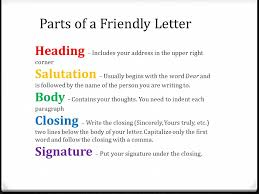 Format For Writing A Friendly Letter Image Collections - Letter ...