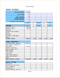 Template For Monthly Expenses Free Standard Operating Procedure