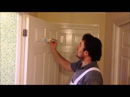 sand and paint an interior door you