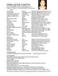resume builder acting resume builder