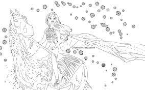 Elsa frozen fise de colorat cu printese / 1. Frozen 2 Coloring Pages Elsa And Anna Coloring