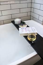 elegant modern bathtub tray build your own bath table with wine glass holders love create