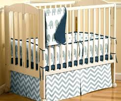 piece crib bedding boy elephant baby orange and blue gray room navy grey chevron set w