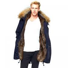 mens lined fur coat 54
