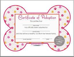 Pet Adoption Certificate Template 16 Pet Birth Certificate Designs Templates Pdf Psd Ai