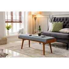 Padded Benches Living Room Porthos Home Aysel Upholstered Bedroom Bench Reviews Wayfair