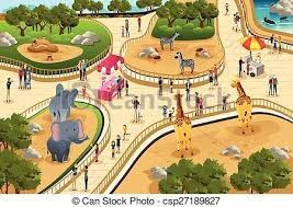 zoo clipart. Brilliant Clipart Scene In A Zoo  Csp27189827 And Zoo Clipart N